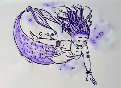 Purple MerMay by curiousdoodler