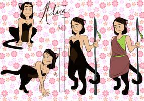 Adara Ref Sheet by curiousdoodler