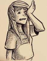 Sad Lisa by curiousdoodler