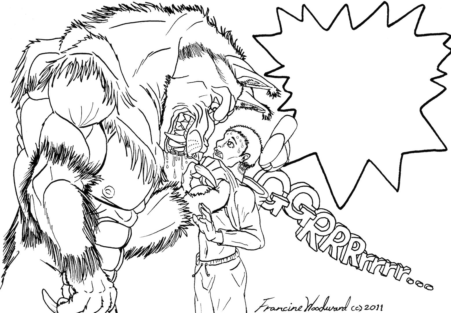 werewolf motivator line art by farumir on deviantart