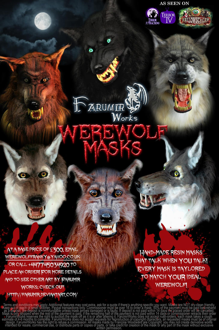 FarumirWorks' Werewolf Masks! by Farumir