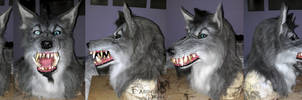 Grey 'Pirate' werewolf mask commission