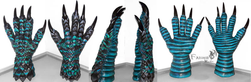 NEW: Dragon/reptile gloves for Kaiju project