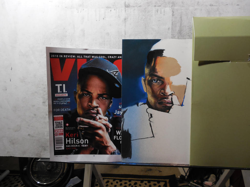 Pastel drawing of T.I W.I.P by SleepwalkinE