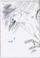 Inktober #2 - Munin by Nychata