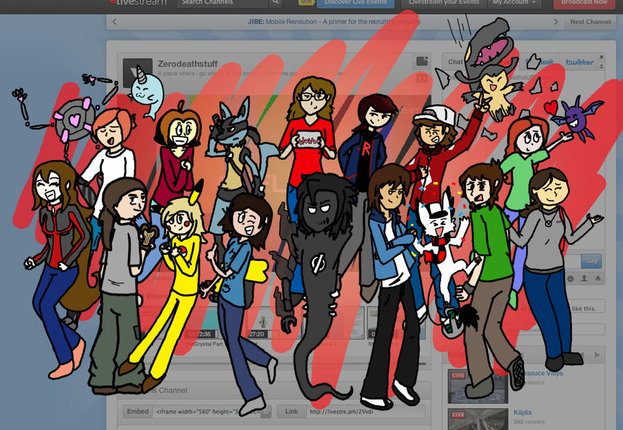 Livestream Groupshot (Edit) by Kame-Ghost