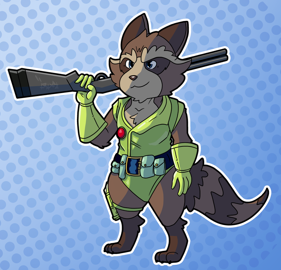 Rocket In His Outfit From Forever Ago by Kame-Ghost