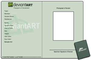 Passport ID Meme Template by Lapin-de-Fou