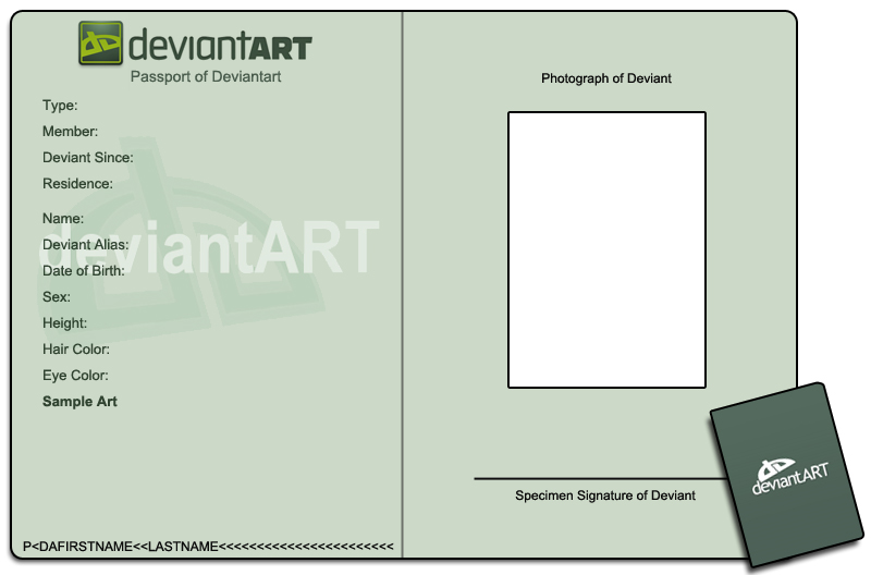 Passport id meme template by lapin de fou on deviantart for Passport photo print template