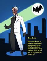 Batman 1966 - Two-Face by SeriojaInc