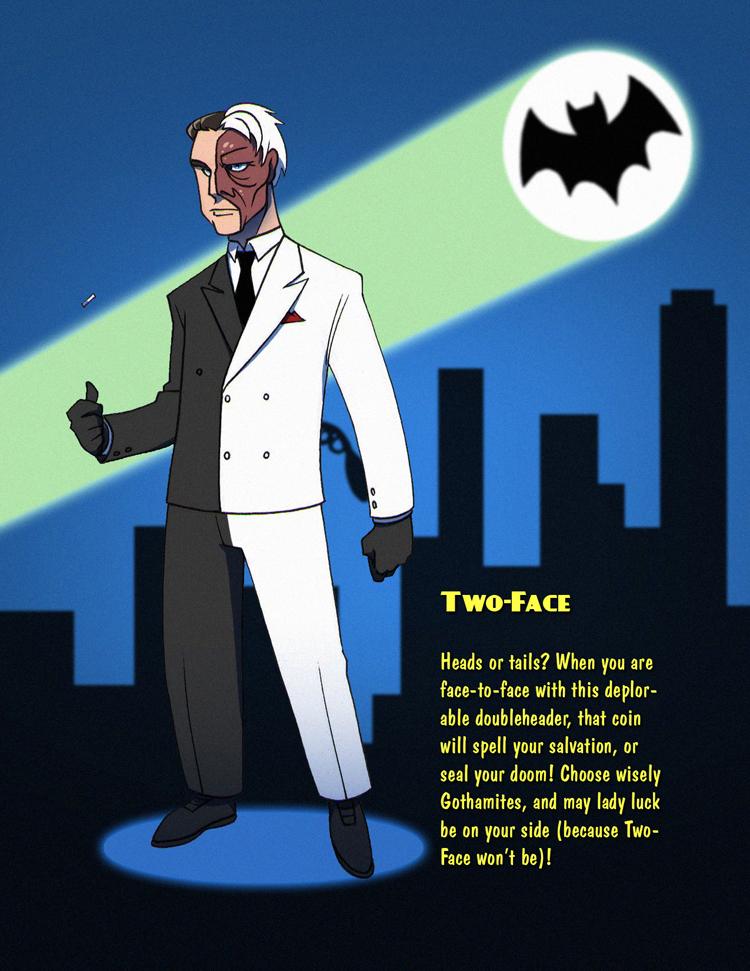 Batman 1966 Two Face By Seriojainc On Deviantart