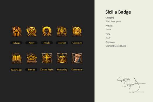 Sicilia Badge