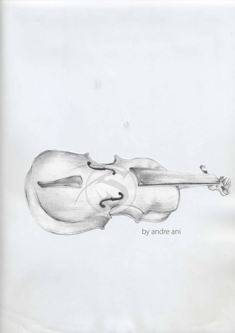 Violin pencil sketch by shadownoon