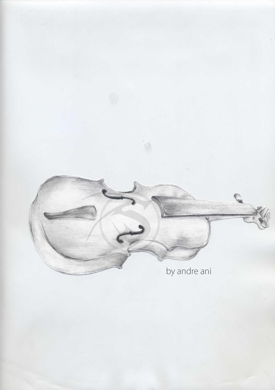 Violin - Pencil Sketch by shadownoon on DeviantArt