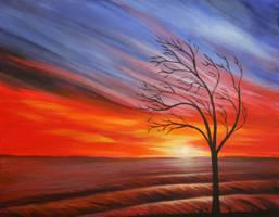 Winter sunset by Pygar