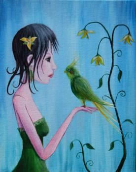 Abby with Bird