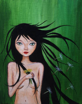 Emma with Dandelions