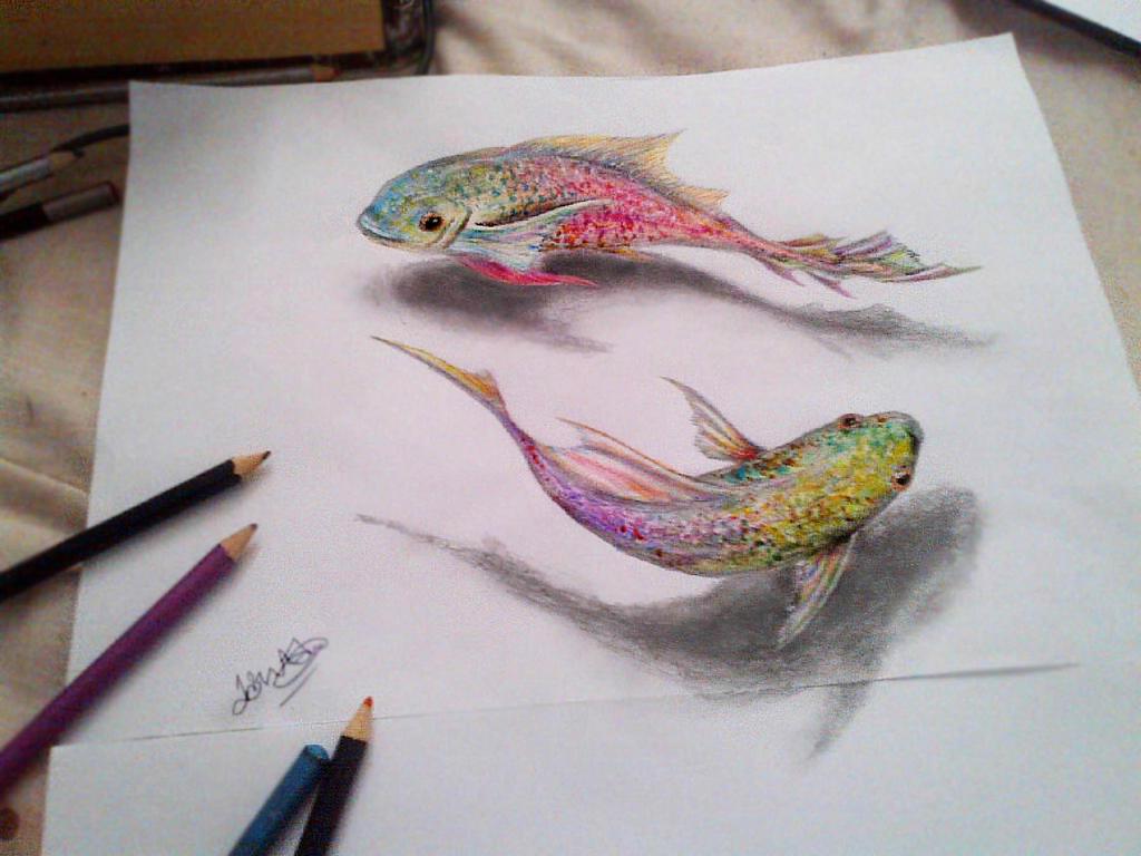 рисуем три д рисунки карандашом поэтапно