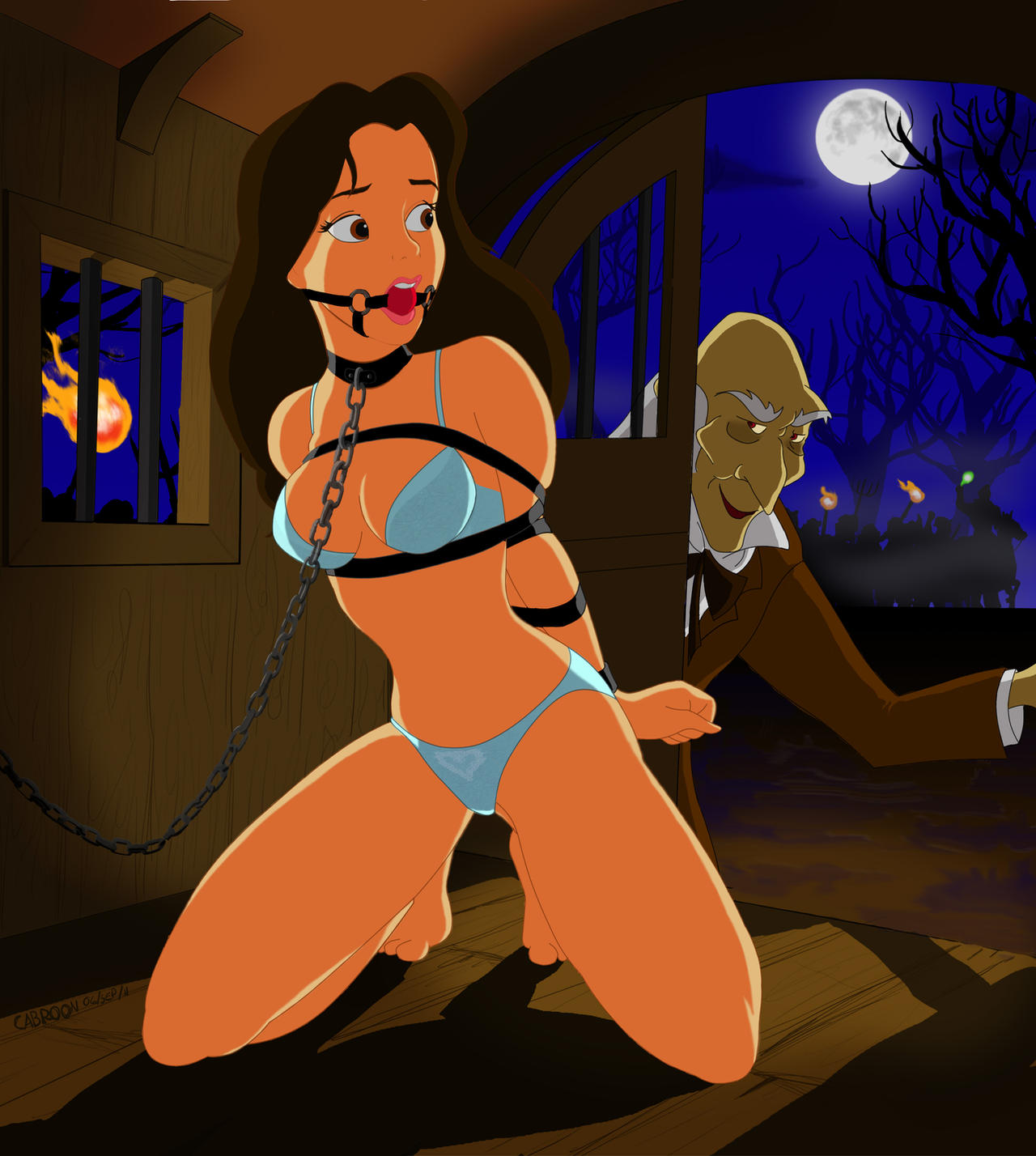 Enjoys Cartoon bondage disney