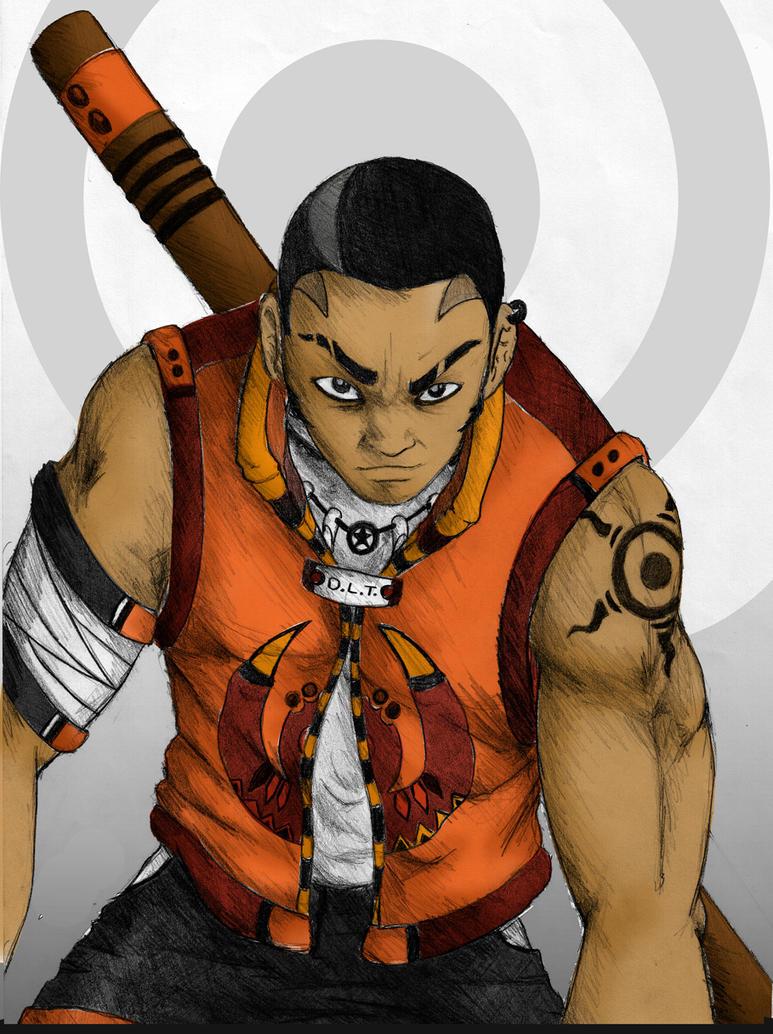 african warrior by Gaimaru
