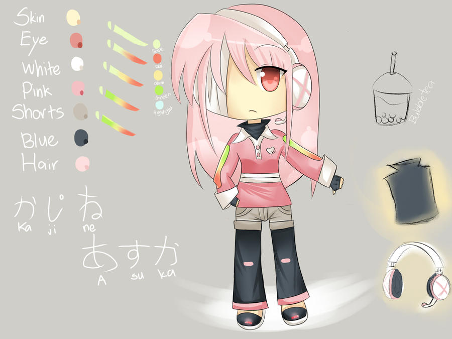 Kajine Asuka Concept Art by Usu-mi