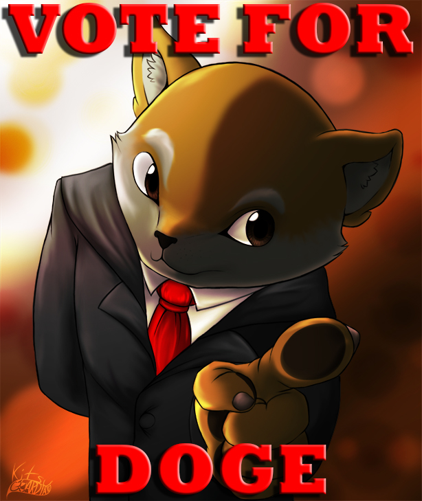 Print: Vote for Doge by KitsuGuardian