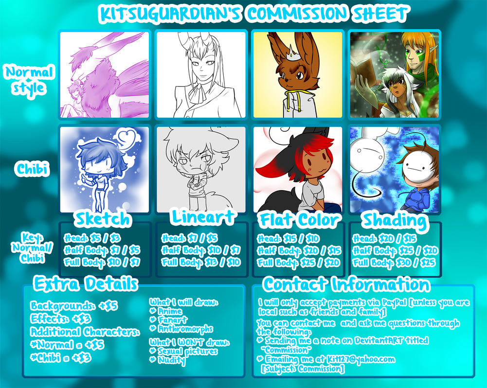 KitsuGuardian's Commission Sheet by KitsuGuardian