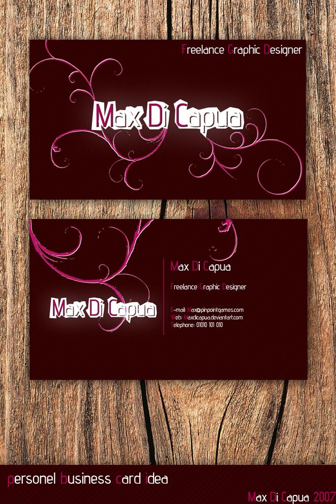 Personel Business Card Idea 2 by Maxdicapua