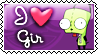Invader Zim- Gir stamp