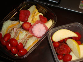 Fruit and Sandwich Bento by AtticusBlackwolf