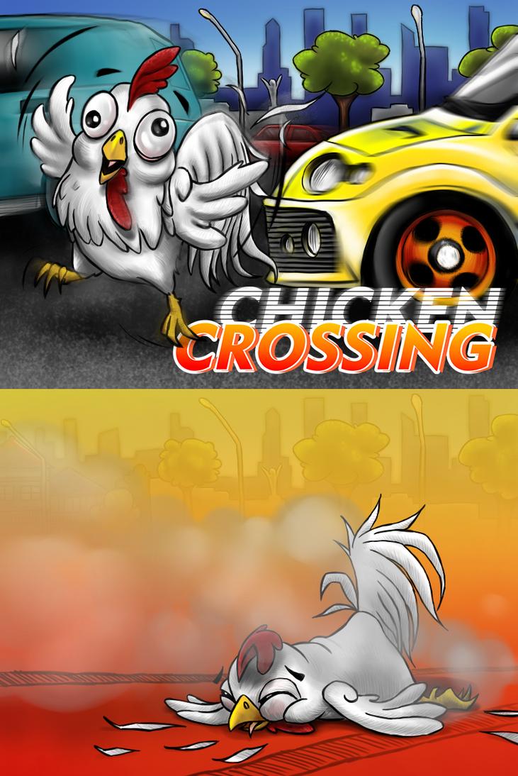 Gitsumm Chicken Crossing by dnhart13