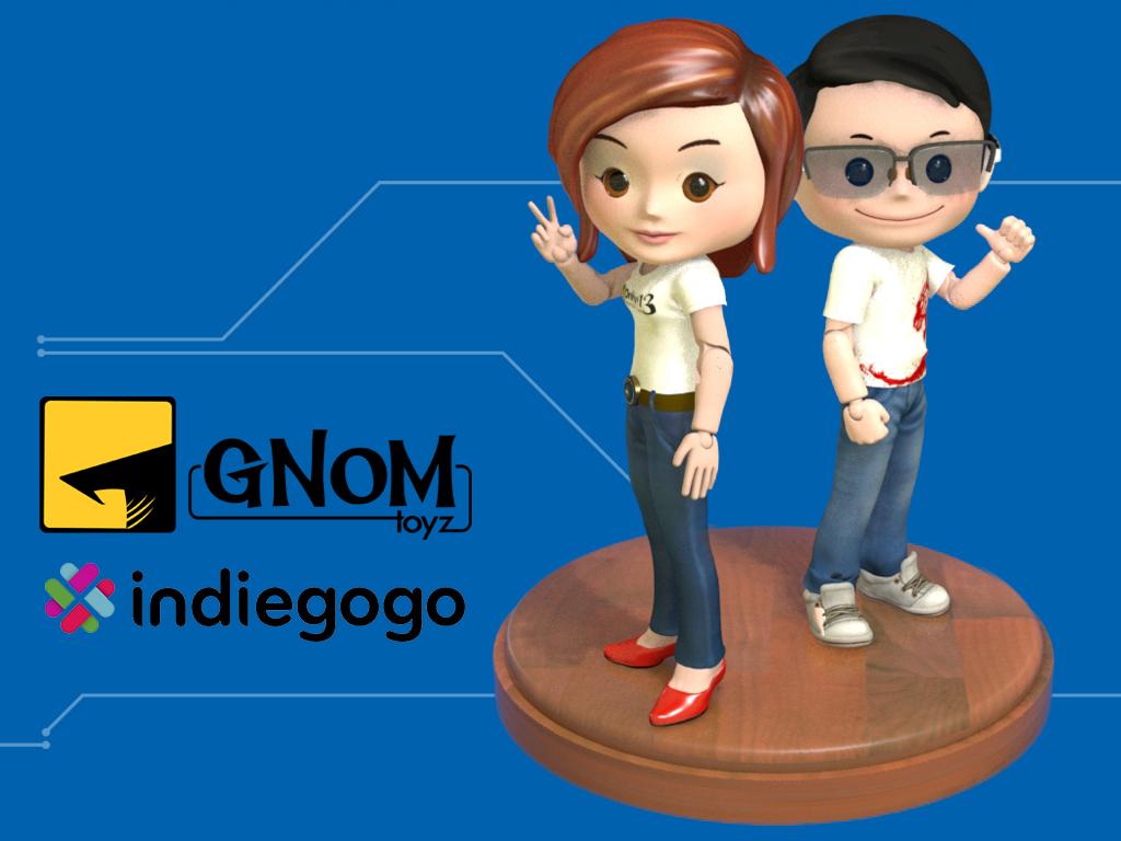 Prototype Gnom-Toyz, Indiegogo Campaign Card by dnhart13