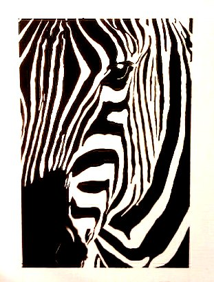 Abstract Zebra Painting by HystericalCybrnaut on DeviantArt