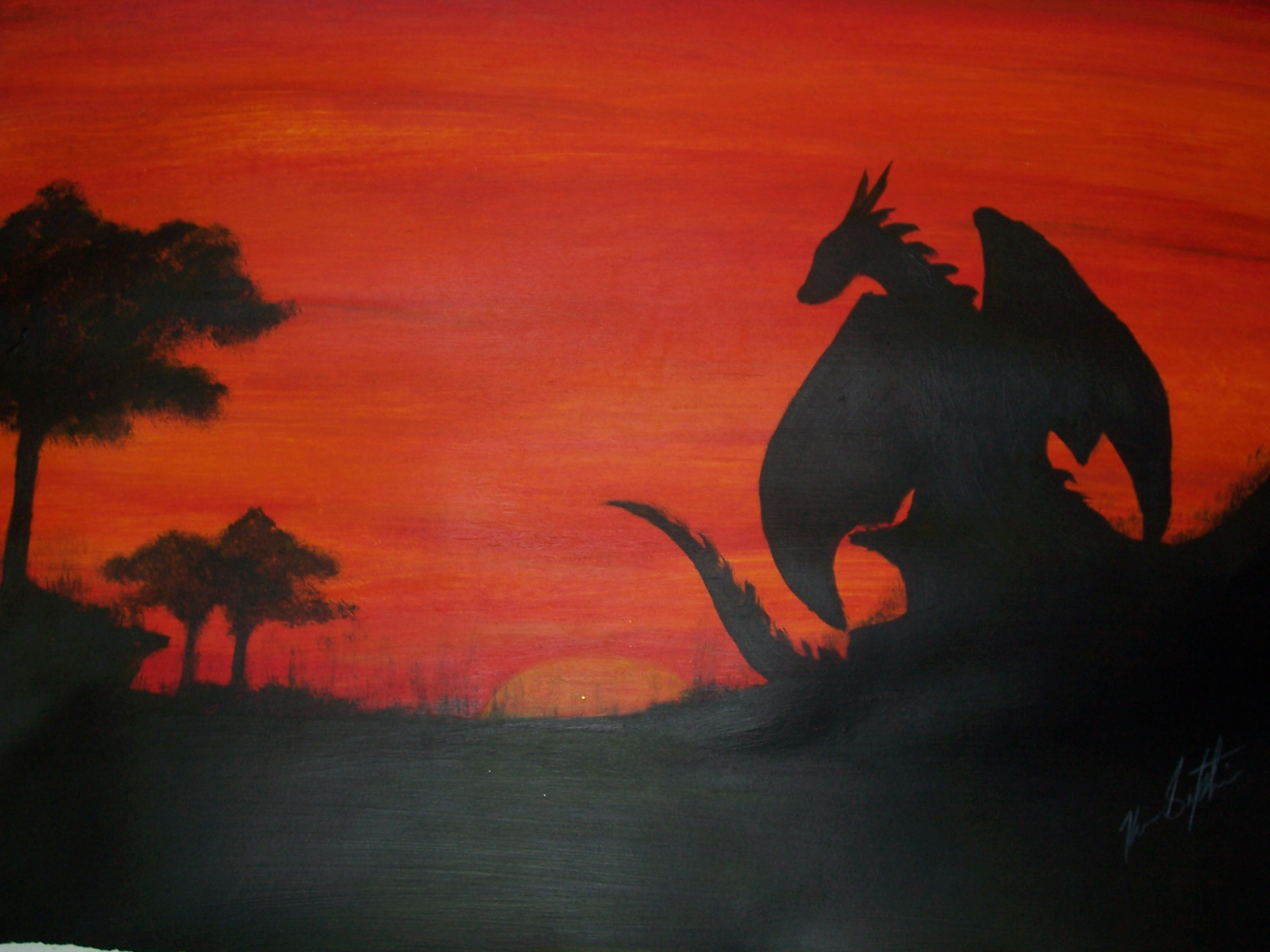 Dragon and sunset -1080p- by xTernal7 on DeviantArt |Dragons And Sunsets