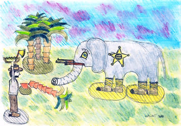 Elephant Sheriff by CutePigTail