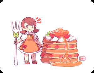 Sweet Strawberry Pancakes