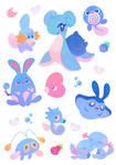 Water Pokemon Stickers