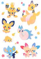 Electric Pokemon Stickers by ieafy