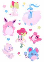 Fairy Pokemon Stickers by ieafy