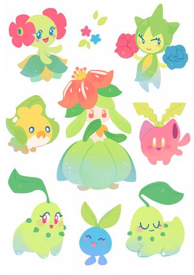 Grass Pokemon Stickers