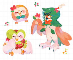 Rowlet evoltion stickers
