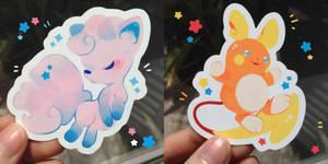 Vulpix + Raichu Stickers by ieafy