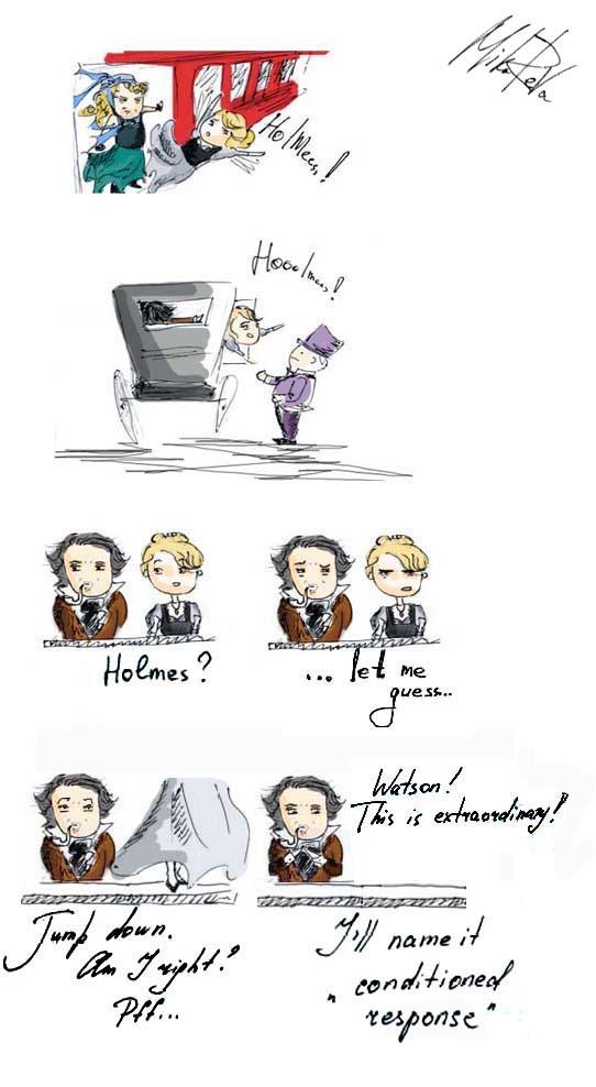 'conditioned response' Sherlock Holmes by Mika-Reva