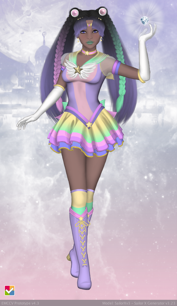 Sailor Senshi: ~Pastel Rainbow~ by LaKiraRee