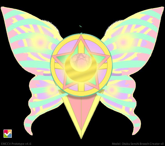 Otaku Sailor Senshi Brooch: Marble Prism Butterfly by LaKiraRee