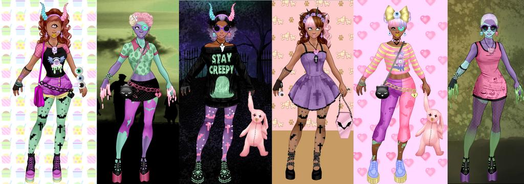 Pastel Zombies Dress up..... by LaKiraRee