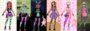 Pastel Zombies Dress up.....