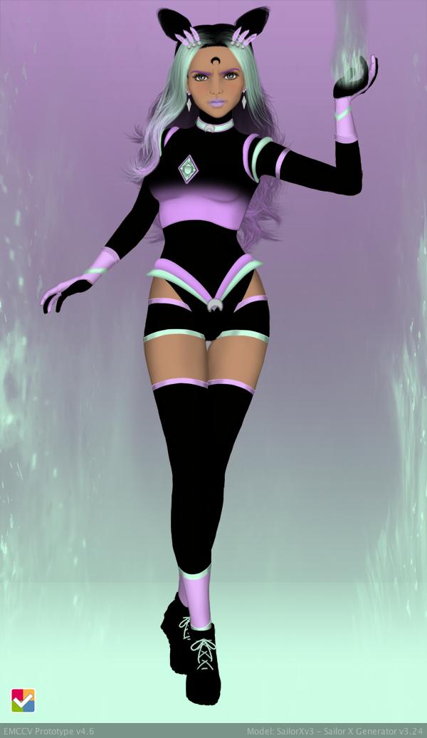 Sailor Senshi: Original Character Dark Pastel Neon by LaKiraRee