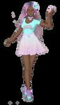 Sailor Senshi: Original ~Melanin Pastel Mermaid~ by LaKiraRee