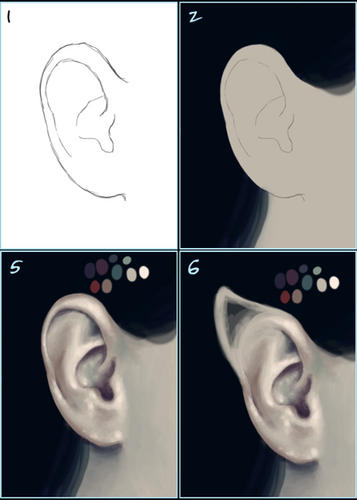 ear tutorial by twosilverstars